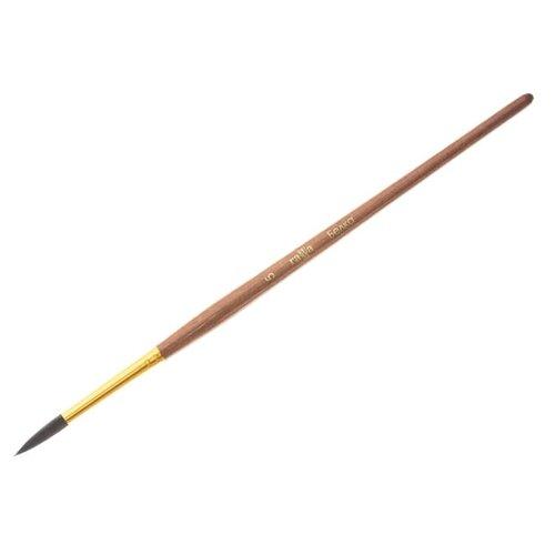Кисть ГАММА белка №5, круглая, короткая ручка коричневый koh i noor кисть белка круглая 10 короткая ручка 200401