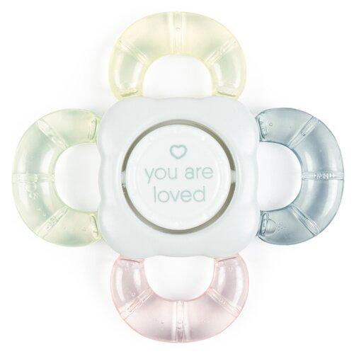 Прорезыватель-погремушка Happy Baby Teether rattle 20011 light blue резинка happy baby 50580 blue