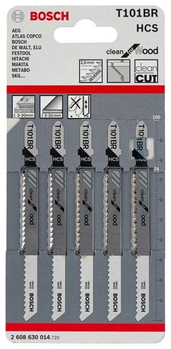 Набор пилок для лобзика BOSCH 2608630014 5 шт.