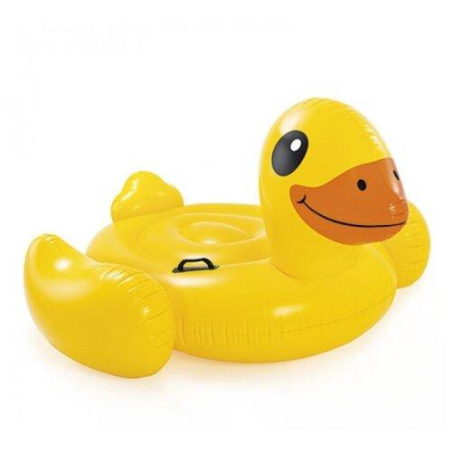 Купить Надувная игрушка-наездник Intex Утка 57556 желтый, Надувные игрушки