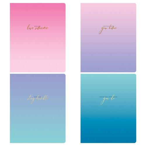 Купить Greenwich Line Упаковка тетрадей Sky color quotes N5c48-26468, 5 шт./4 дизайна, клетка, 48 л., Тетради