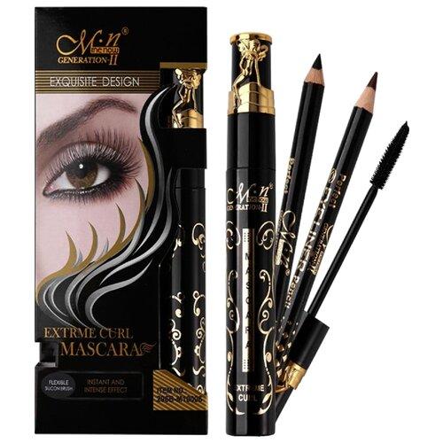 Menow Набор для макияжа: тушь для ресниц Extreme Curl Mascara и 2 карандаша для глаз