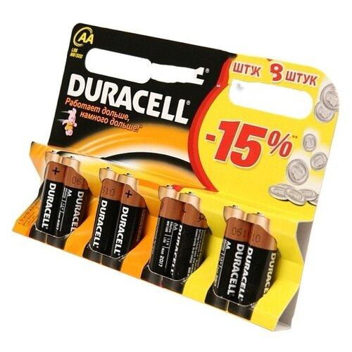 Фото - Батарейки AA - Duracell LR6 BL8 (8 штук) батарейки duracell activeair nugget box za675 da675 6bl