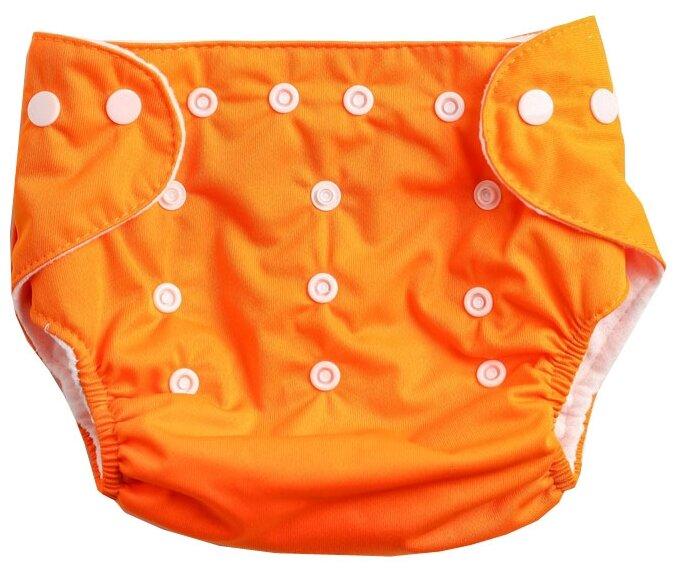 Купить Крошка Я многоразовый подгузник (3-15 кг) 1 шт. оранжевый по низкой цене с доставкой из Яндекс.Маркета (бывший Беру)