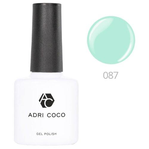Гель-лак ADRICOCO Gel Polish, 8 мл, оттенок 087 нежно-мятный adricoco верхнее покрытие top gel polish с липким слоем 8 мл бесцветный