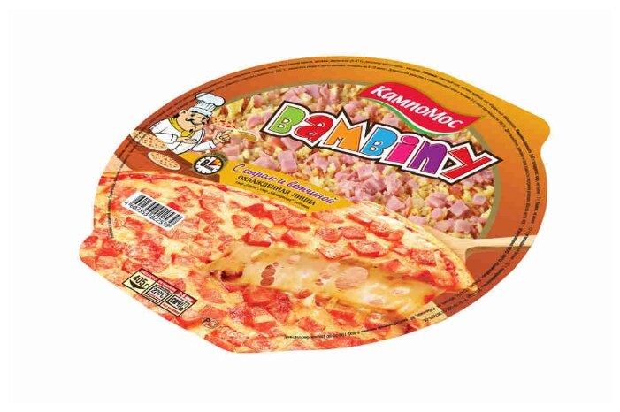 КампоМос Пицца Bambiny с сыром и ветчиной 405 г