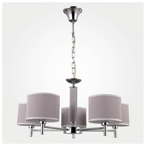 Люстра Eurosvet Arial 70047/5 хром, E14, кол-во ламп: 5 шт., цвет арматуры: серый, цвет плафона: серый