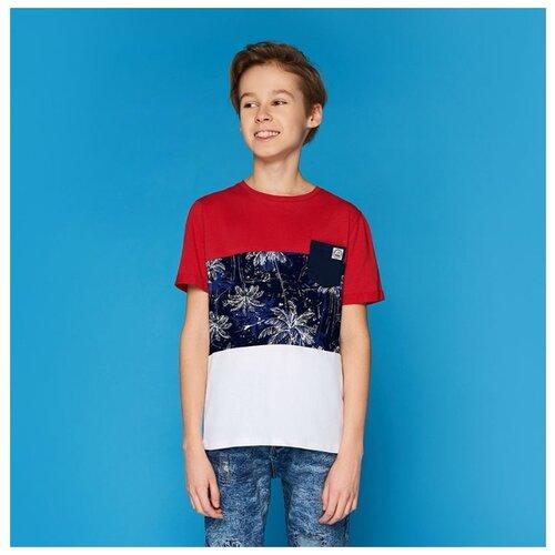 Футболка INFUNT размер 146, красный/синий/белый футболка infunt размер 146 красный синий белый
