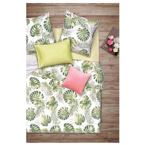Постельное белье 2-спальное Sova & Javoronok Пальмира, бязь, 70 х 70 см белый/зеленый постельное белье 1 5сп sova