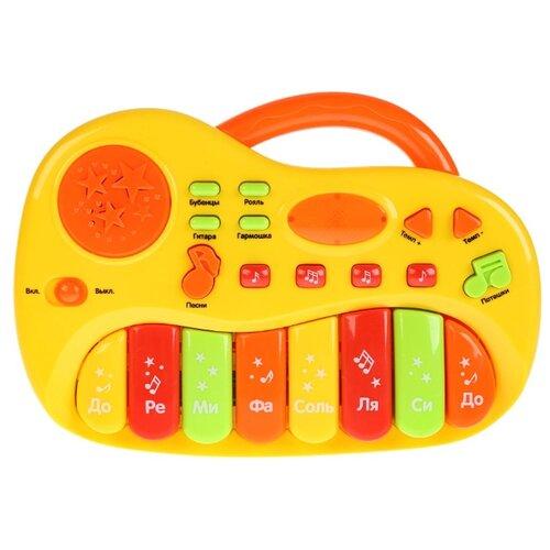 Купить Умка пианино B1404064-R желтый, Детские музыкальные инструменты