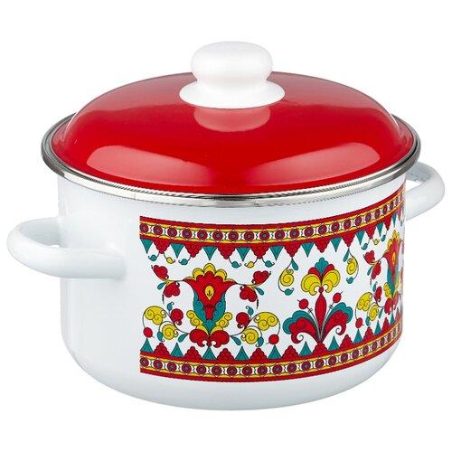 Кастрюля Appetite Карусель 4 л, белый/красный