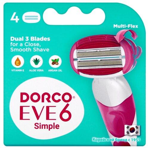 Dorco Eve 6 Simple / Shai Sweetie Сменные кассеты, 4 шт.