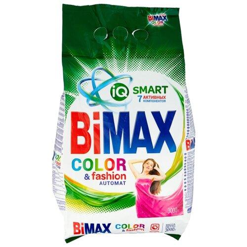 Стиральный порошок Bimax Color&Fashion Compact (автомат) пластиковый пакет 3 кг