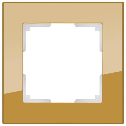 Рамка 1п Werkel WL01-Frame-01, бронзовый рамка 1п werkel wl01 frame 01 dbl белый