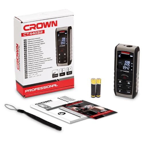 Лазерный дальномер CROWN CT44032 40 м серый/черный лазерный дальномер crown ct44032 40 м серый черный