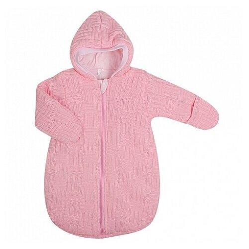Купить Спальный мешок вязанный, состав: пряжа 100% акрил, внутри тонкий слой синтепона, на подкладке из 100 (розовый (рост: 62 см)), Kidboo, Конверты и спальные мешки