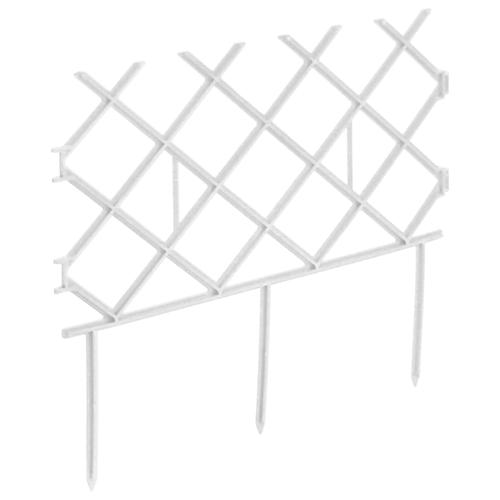 Забор декоративный Комплект-Агро Палисад, белый, 3 х 0.19 м