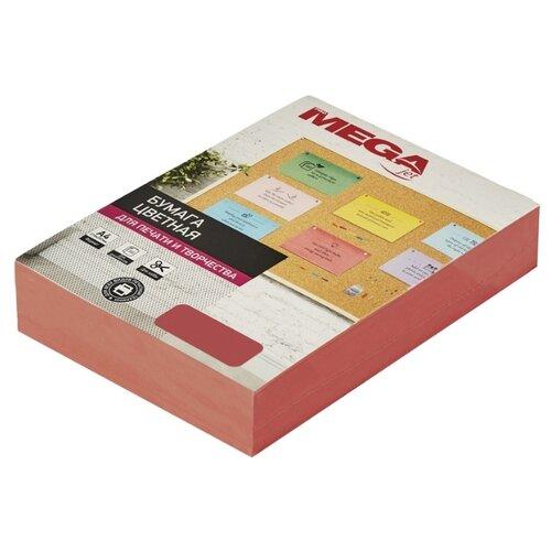 Бумага цветная ProMEGA А4, 80 г, красный интенсив, пачка 500 листов