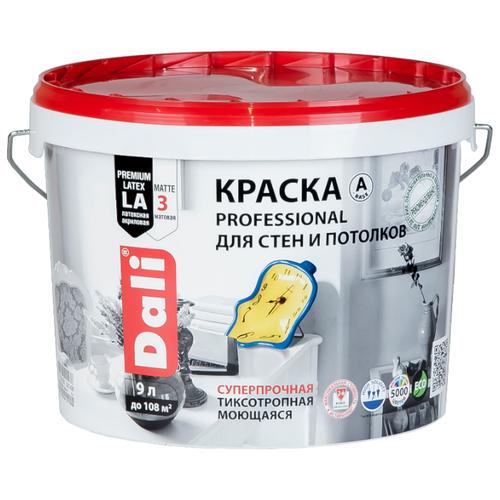Краска акриловая DALI Professional для стен и потолков моющаяся матовая 9 л 3 (C/BC/D)