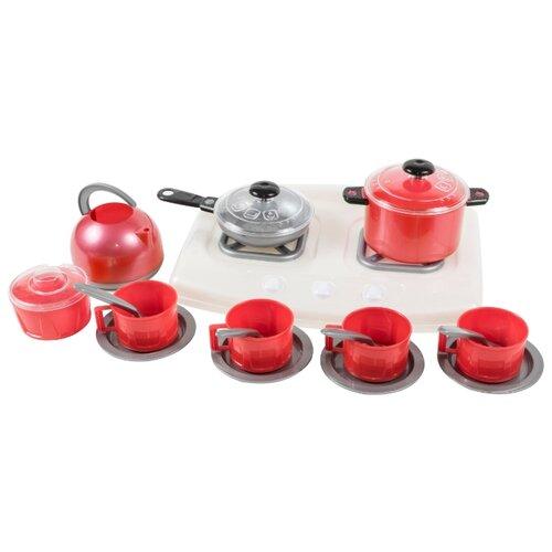 Купить Набор посуды с плитой в пакете 31, 5*21*17см, Orion Toys, Игрушечная еда и посуда