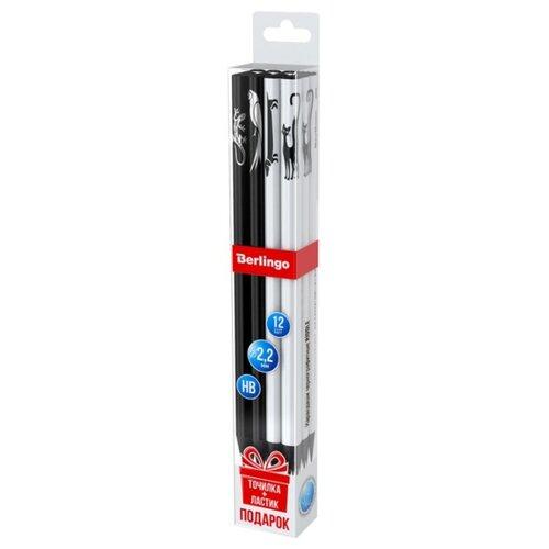 Купить Berlingo Набор чернографитных карандашей 4 дизайна Riddle 12 шт. (BP01165_12), Карандаши