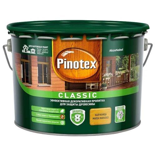 Фото - Водозащитная пропитка Pinotex Classic калужница 9 л водозащитная пропитка pinotex classic светлый дуб 1 л