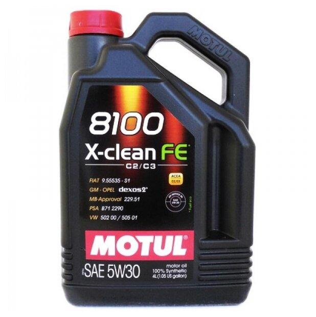 Моторное масло Motul 8100 X-clean FE 5W30 4 л
