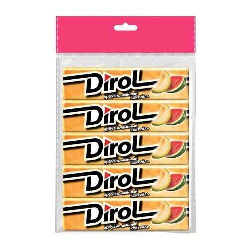 Жевательная резинка Dirol Cadbury Арбузно-Дынный Коктейль 5 шт*13,6 г