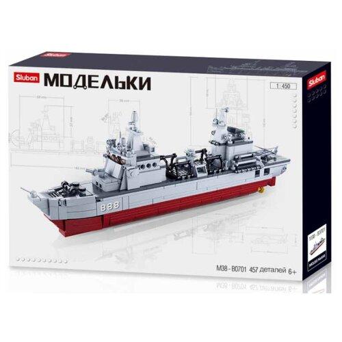 Конструктор SLUBAN Модельки M38-B0701 Корабль снабжения, Конструкторы  - купить со скидкой