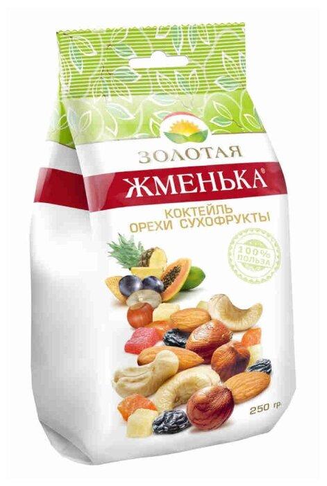 Смесь орехов, сухофруктов и цукатов Золотая Жменька Коктейль орехи/сухофрукты 250 г