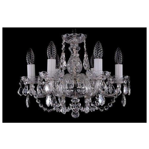 Люстра Bohemia Ivele Crystal 1406 1406/6/141/Ni/Leafs, E14, 240 Вт люстра bohemia ivele crystal 1406 1406 8 160 ni leafs e14 320 вт