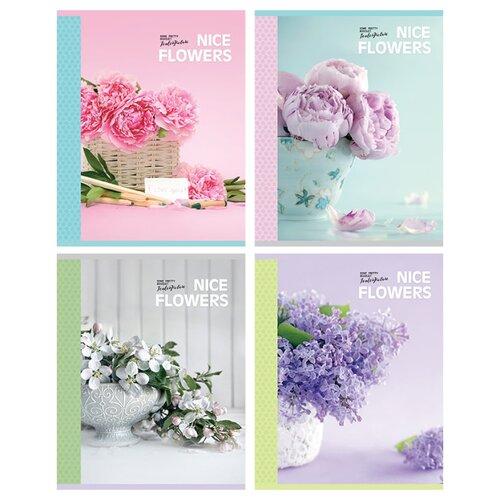 Купить Greenwich Line Упаковка тетрадей Nice flowers N5c48-12875, 5 шт./4 дизайна, клетка, 48 л., Тетради