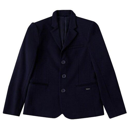 пальто женское finn flare цвет темно синий b18 11016 размер 2xl 52 Пиджак FiNN FLARE размер 11 (146), темно-синий