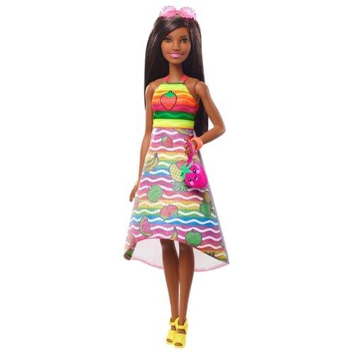 Купить Кукла Barbie Крайола Радужный фруктовый сюрприз Брюнетка, 29 см, GBK19, Куклы и пупсы