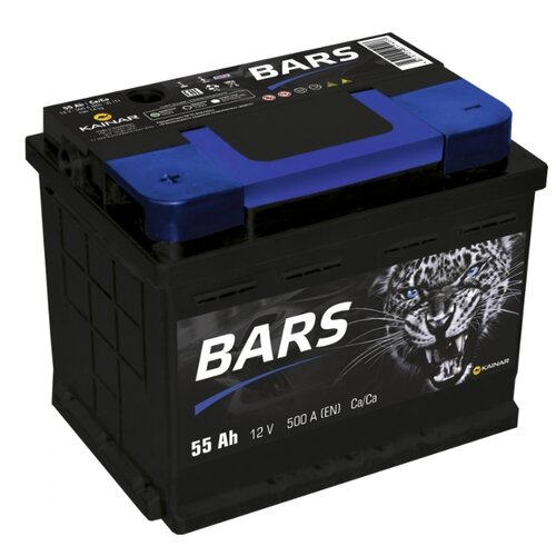 Автомобильный аккумулятор BARS 6СТ-55 АПЗ п.п. level bars 34430