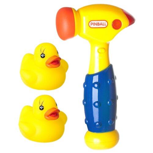 развивающая игрушка bondibon автомобиль корабль разноцветный Развивающая игрушка BONDIBON Baby You Молоток с уточками ВВ1919 желтый/синий