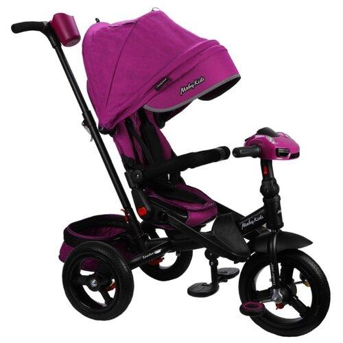 Купить Трехколесный велосипед Moby Kids New Leader 360° 12x10 AIR Car ягодно-пурпурный, Трехколесные велосипеды