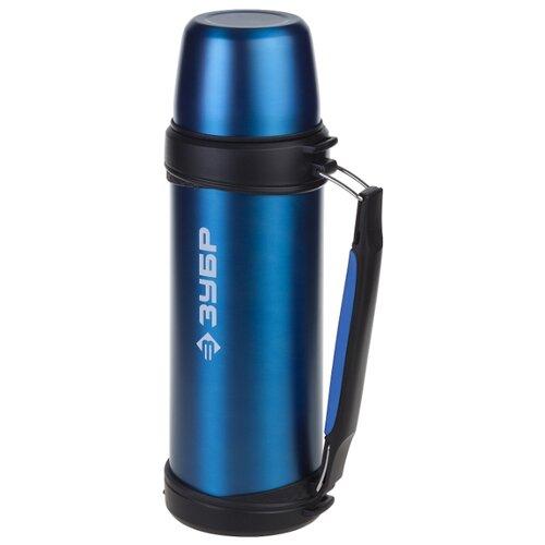 цены Классический термос ЗУБР Эксперт с ручкой (1 л) синий