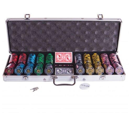 набор для покера us dollar usd500 на 500 фишек c номиналом Набор для покера Partida Lux, 500 фишек