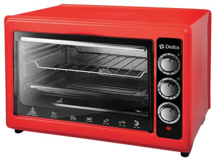 Купить Мини-печь DELTA D-0123 красный по низкой цене с доставкой из Яндекс.Маркета (бывший Беру)