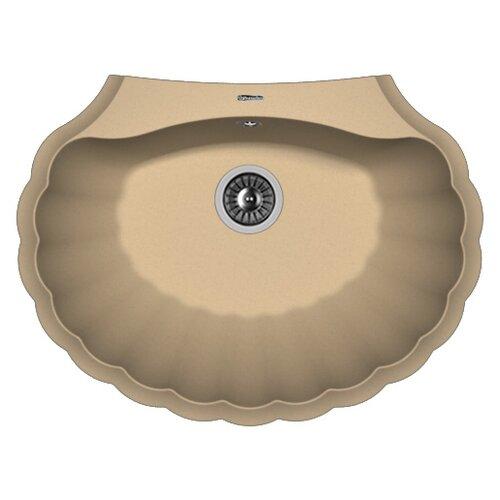 Фото - Врезная кухонная мойка 69.5 см FLORENTINA Гребешок капучино врезная кухонная мойка 69 5 см florentina гребешок мокко
