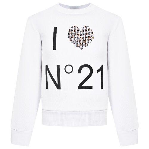 Свитшот N° 21 размер 164, белый джинсы n°21