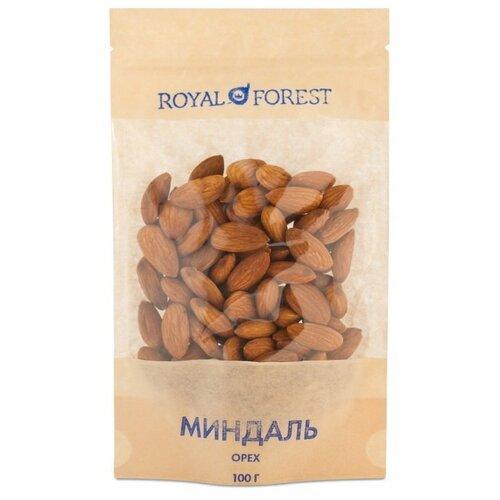Миндаль ROYAL FOREST необжаренный бумажный пакет 100 г
