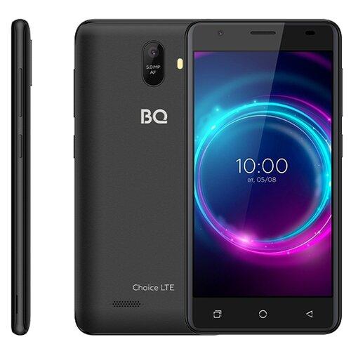 Смартфон BQ 5046L Choice LTE, black graphite смартфон bq mobile bq 5046l choice lte ultraviolet