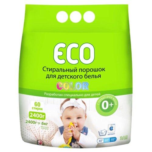 Стиральный порошок ECO Зая Color пластиковый пакет 2.4 кг