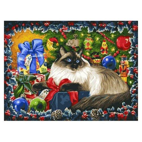 Белоснежка Картина по номерам Рождественские подарки 30х40 см (343-AS) белоснежка картина по номерам отражения солнца 30х40 см 264 as