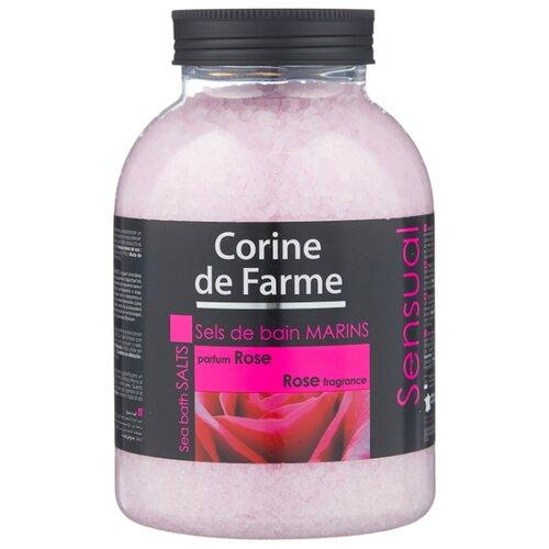 CORINE de FARME Морская соль для ванн Sensual Роза 1300 г шампунь corine de farme купить