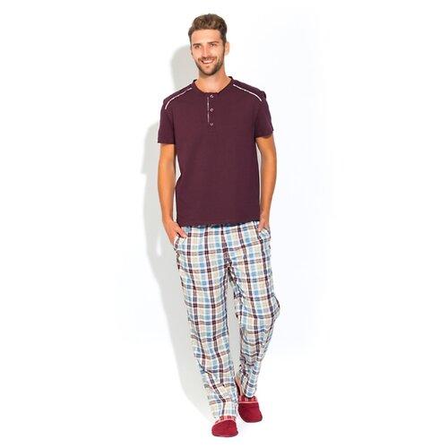 Домашний костюм - пижама BOSS №25 (PM 2140/3) размер XL (50-52), темно-сливовый/комбинированный фото