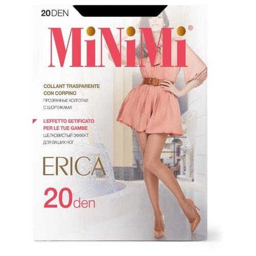 Колготки MiNiMi Erica, 20 den, размер 5-XL, nero (черный) колготки minimi calma 20 den размер 5 xl nero черный