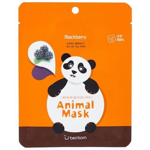 Berrisom Тканевая маска с экстрактом ежевики Animal Mask Series - Panda, 25 мл недорого